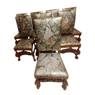 Early 20th Century Spanish Revival Dining Chairs - Set of 10 For Sale