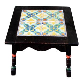 Monterey Style Spanish Tile Table For Sale