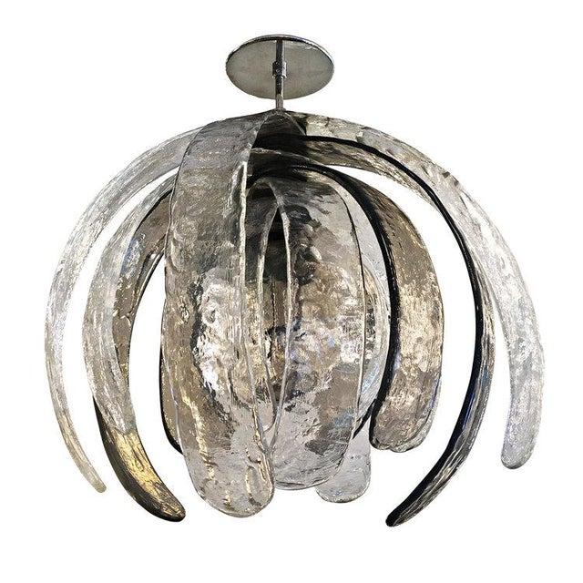 Artichoke Murano Glass Chandelier by Mazzega - Image 3 of 6