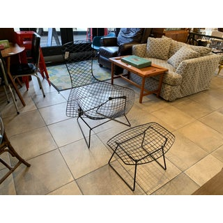 1950s Vintage Knoll Bertoia Bird Chair With Ottoman Preview