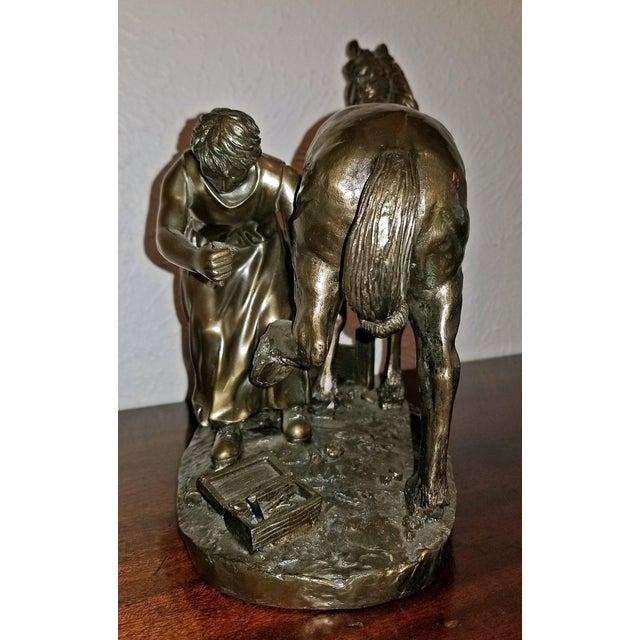 """Late 20th Century Irish """"Horse and Farrier"""" Sculpture by Genesis For Sale - Image 5 of 10"""