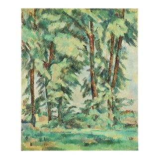 """1940s Paul Cezanne """"Big Trees at Le Jas De Bouffan"""", Swiss Lithograph For Sale"""