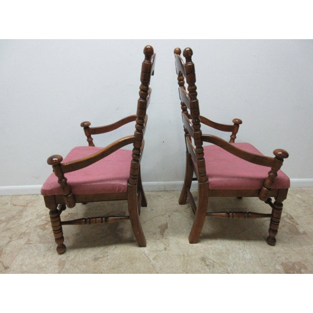 Link Taylor Country Pine Ladder Back Dining Chairs - A Pair For Sale - Image 5 of 10