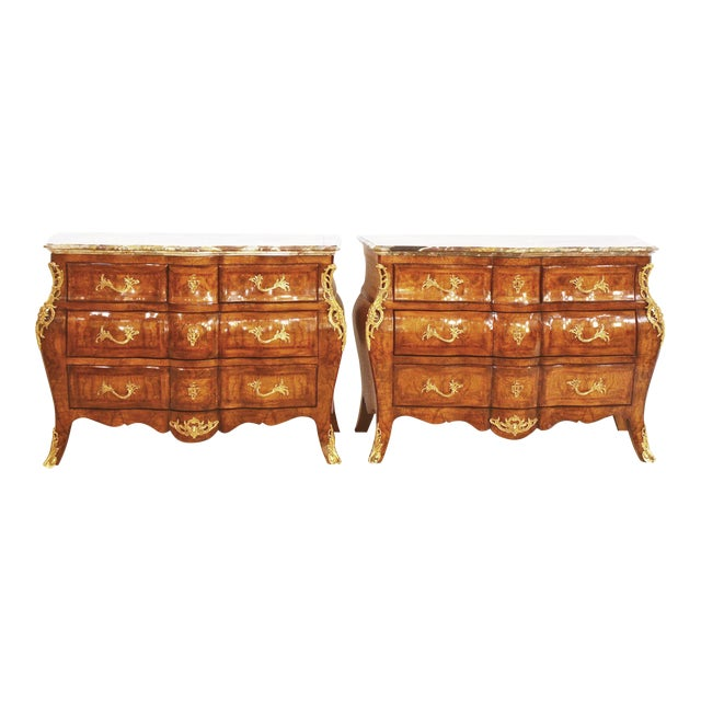 French Style Bombe Commodes- A Pair - Image 1 of 9