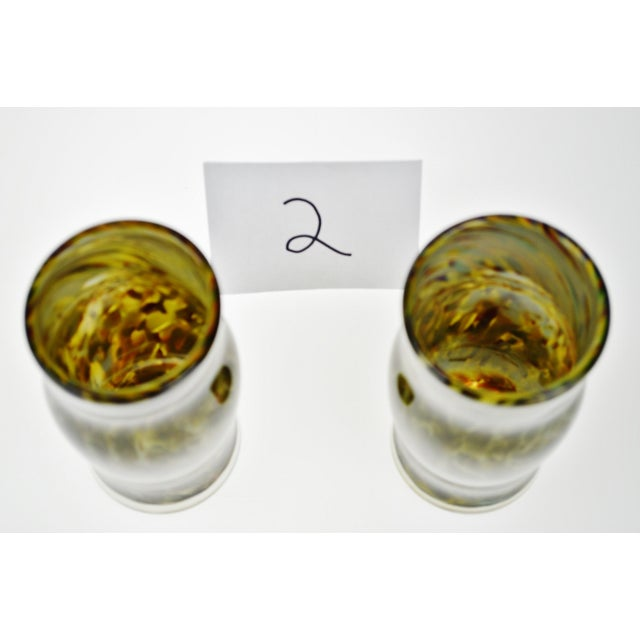 Hand-Blown Art Glass Vessels - A Pair - Image 7 of 11