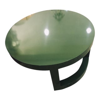 West Elm Green Round Coffee Table