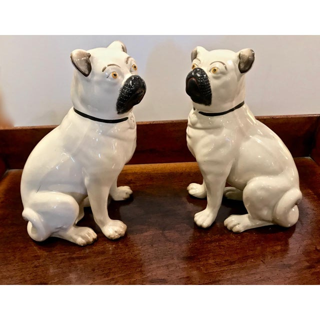 Pair Staffordshire 19th C. Pugs For Sale - Image 10 of 12