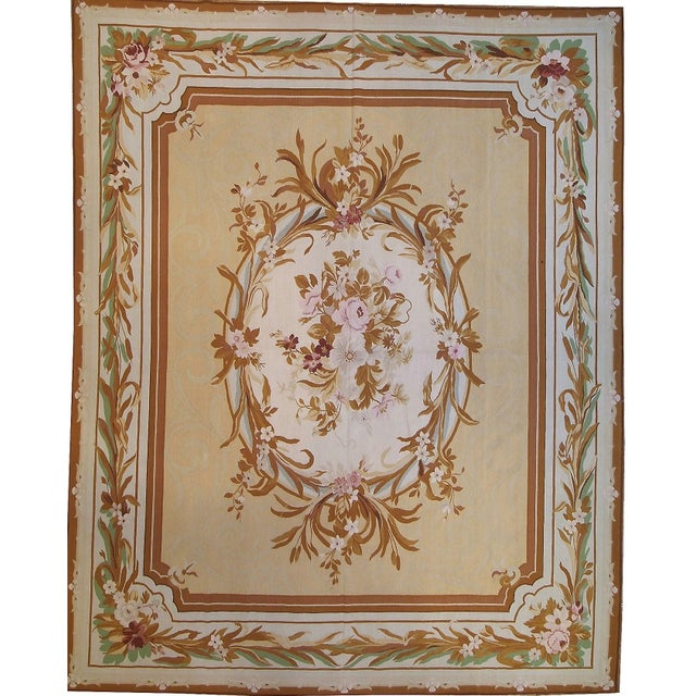 """Pasargad Aubusson Hand Woven Wool Rug - 9' 8"""" x 12' 1"""" - Image 3 of 3"""