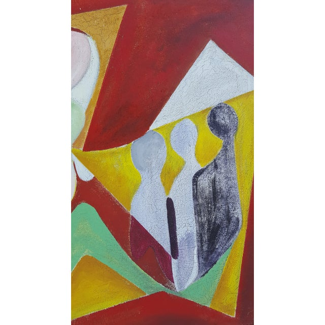 1977 Intermezzo Abstract Painting By Chester T. Kuziora - Image 6 of 11