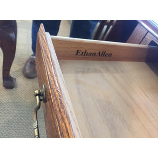 Ethan Allen Canterbury Oak Drop-Leaf Side Table Preview