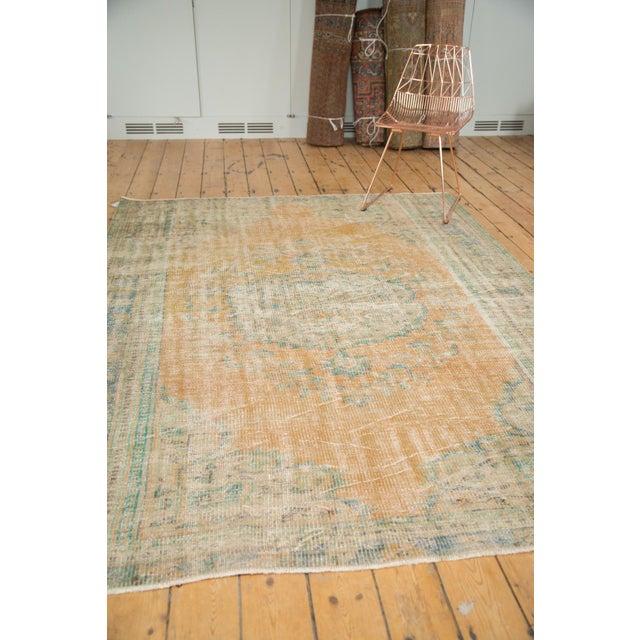 "Vintage Distressed Oushak Carpet - 6'3"" X 8'6"" - Image 8 of 11"