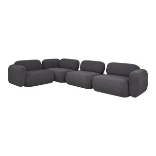 Modern Gardenia Grey Sectional For Sale