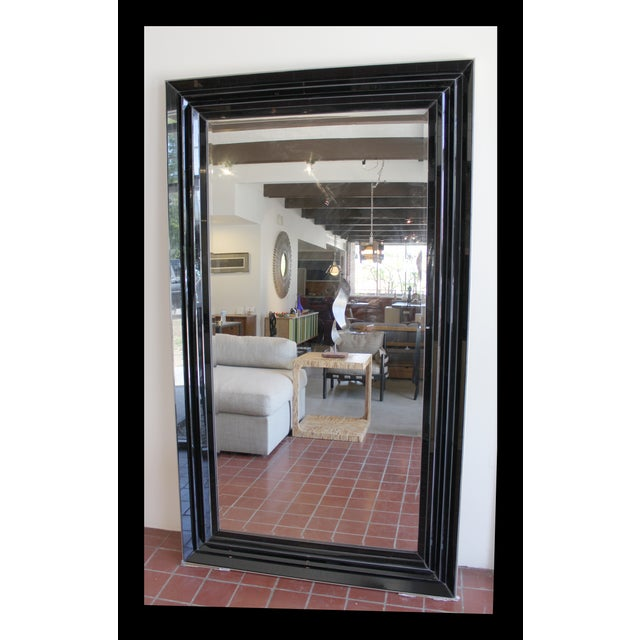 Large Black and Clear Frame Mirror - Image 2 of 4