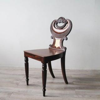 English Regency Mahogany Hall Chair Preview