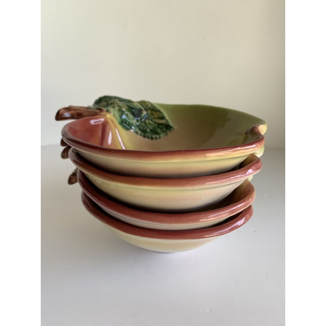 Ceramic Apple Shaped Bowls, Set of Four For Sale - Image 9 of 12