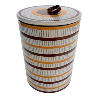 Jonathan Adler Sgraffito Canister For Sale