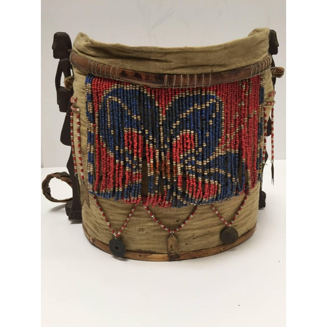 Dayak Kayan Borneo Beaded Basket Baby Carrier For Sale - Image 10 of 10