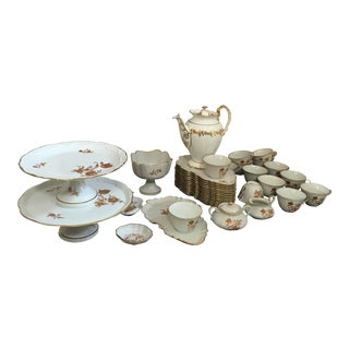 1920s Vintage Limoges France S38 Dessert Set of 38 For Sale