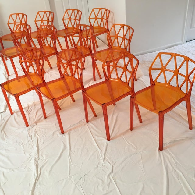 Calligaris Alchemia Dining Chairs in Orange - Set of 12 For Sale - Image 13 of 13