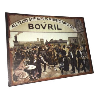 English Tin Advertising Repro for Bovril For Sale