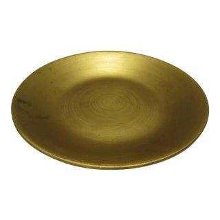 Decorative Ceramic Gold Platter For Sale