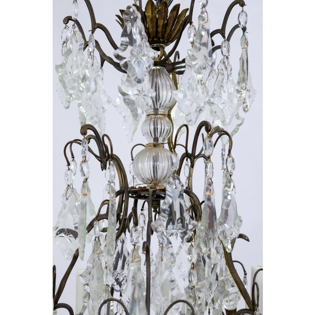 Louis XIV Early 20th Century Multi Crystal 15-Arm Birdcage Chandelier For Sale - Image 3 of 13