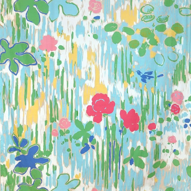 From the Scalamandre Belle Jardin Collection, Printed Fabrics.