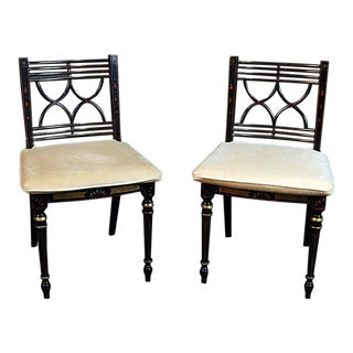 Pair of Baker Charleston Collection Regency Style Side Chairs For Sale