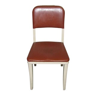 Burgundy Seat Metal Office Chair