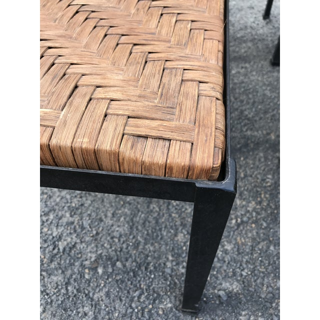 Danny Ho Fong Iron and Reed Dining Table With Six Stools for Tropi-Cal For Sale In New York - Image 6 of 13