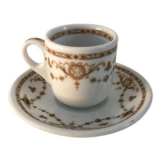 1930's French Style Demitasse Cup and Saucer