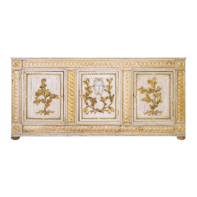 18th Century Italian Neoclassical Sideboard Cabinet For Sale