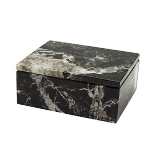 Black Marble Keepsake Box For Sale