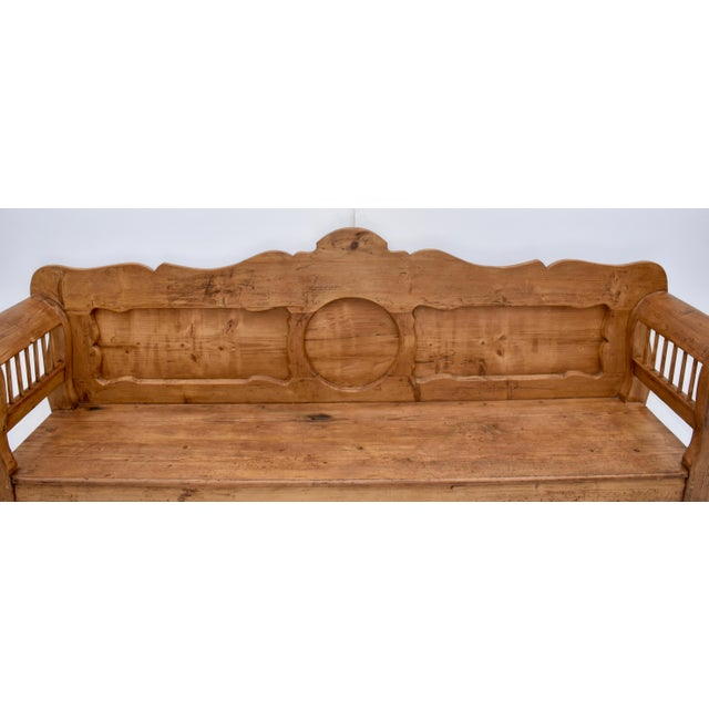 Pine and Oak Bench or Settle For Sale - Image 11 of 13