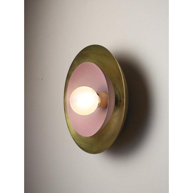 Blueprint Lighting Blueprint Lighting Solid Brass & Lilac Enamel Mesh Sconce For Sale - Image 4 of 7