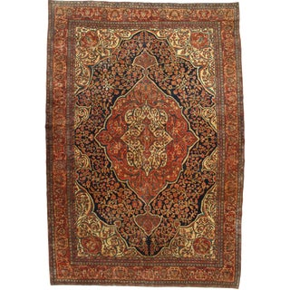 Late 19th Century Antique Persian Sarouk Farahan Rug - 8′5″ × 12′4″ For Sale