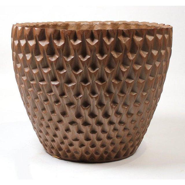 "David Cressey Artisan Series Unglazed ""Phoenix"" Planter Architectural Pottery For Sale - Image 9 of 9"