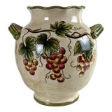 Image of Large French Country Ceramic Vessel Vase Provincial Mediterranean For Sale