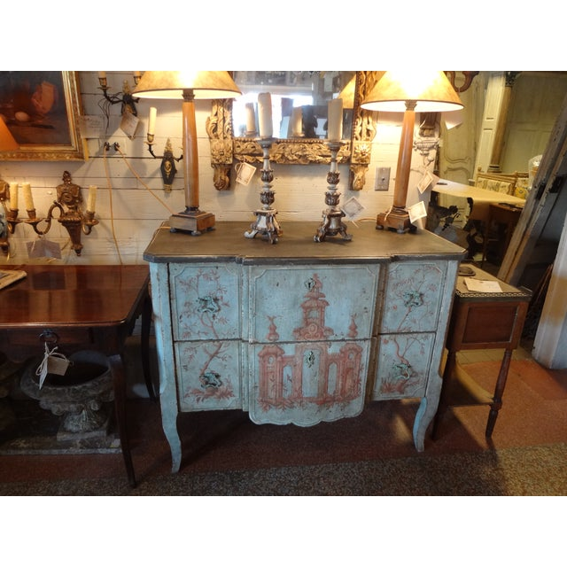 19th Century Italian Painted Commode For Sale - Image 10 of 11