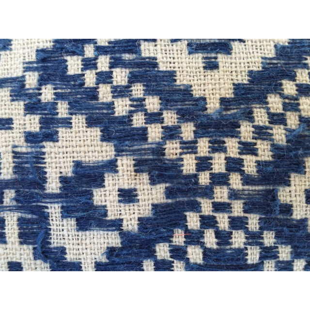 Hill Tribe Embroidered Indigo Silk Pillow - Image 4 of 5
