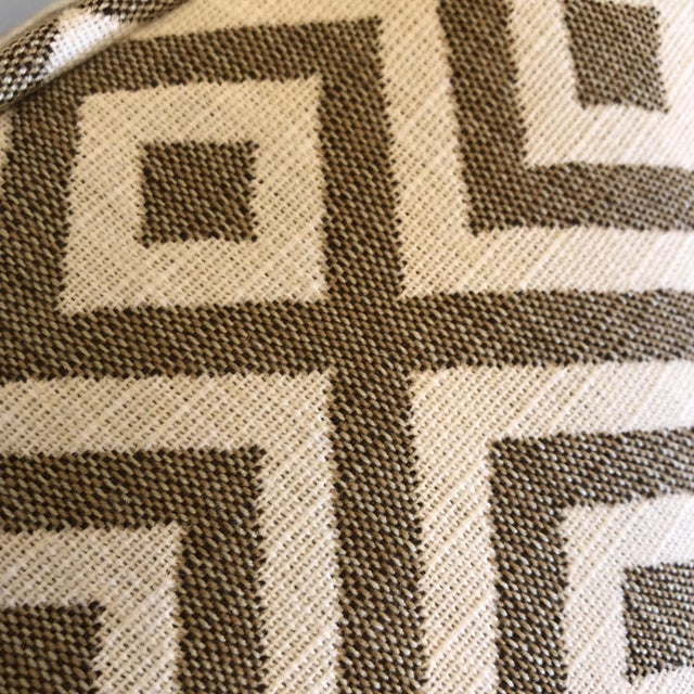 "2010s Geometric Woven Cotton 22"" Pillows - a Pair For Sale - Image 5 of 6"