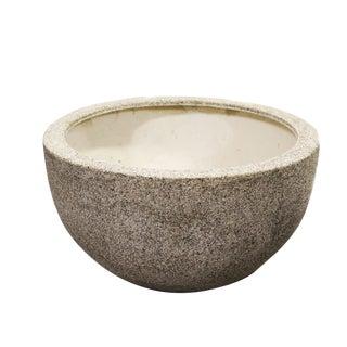Organic Modern Cream Ceramic Bowl Planter
