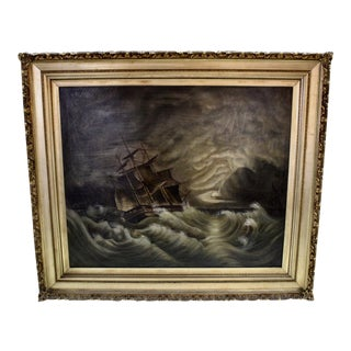 """Ship on a Stormy Sea"" Painting"