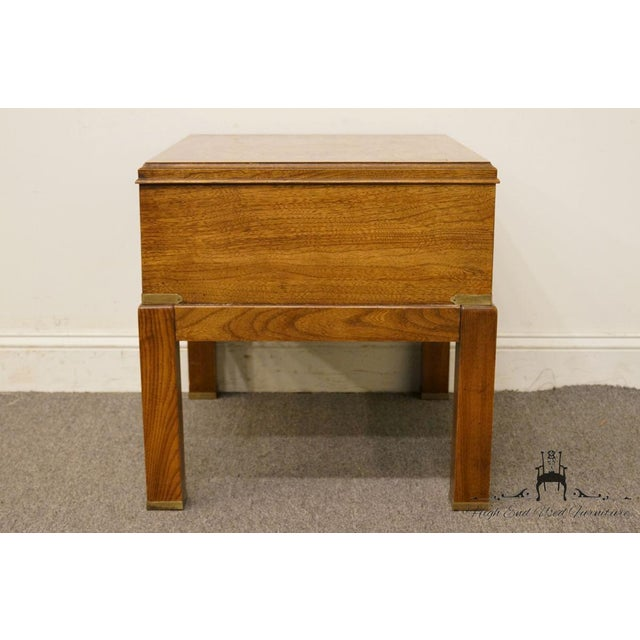 20th Century Contemporary Lane Furniture Bookmatched Walnut End Table For Sale - Image 11 of 13