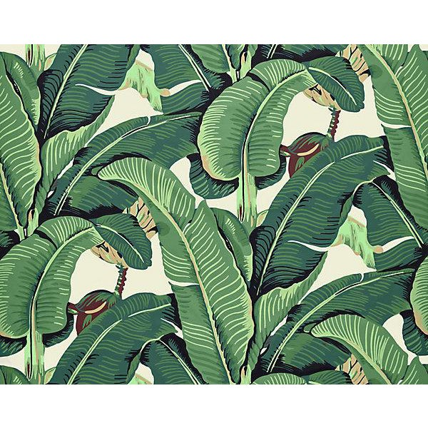 Hinson for the House of Scalamandre Hinson Palm Fabric Fabric in Green For Sale