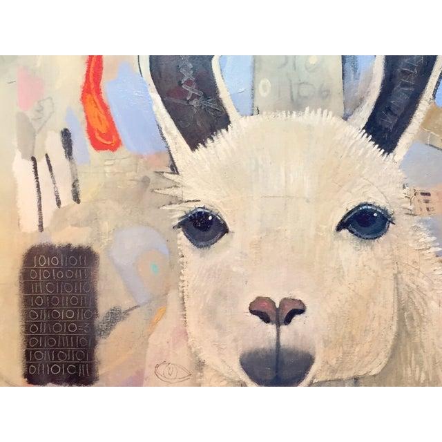 Original Royal Llama Oil on Canvas Painting - Image 3 of 5