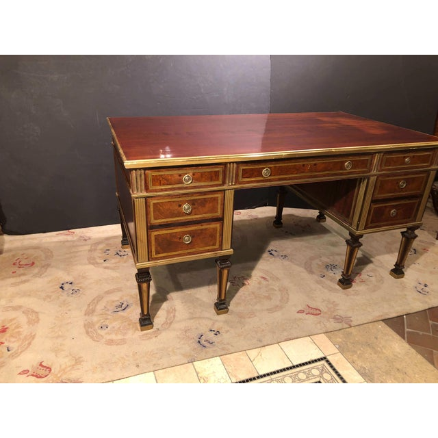 Neoclassical Russian Neoclassic Mahogany Desk For Sale - Image 3 of 10
