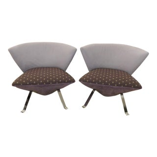 Giorgio Saporiti Il Loft Jada Hugging Lounge Chairs - a Pair For Sale
