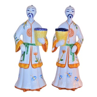 Vintage Este for Tiffany & Co Italian Ceramic Figurines / Candle Holders For Sale