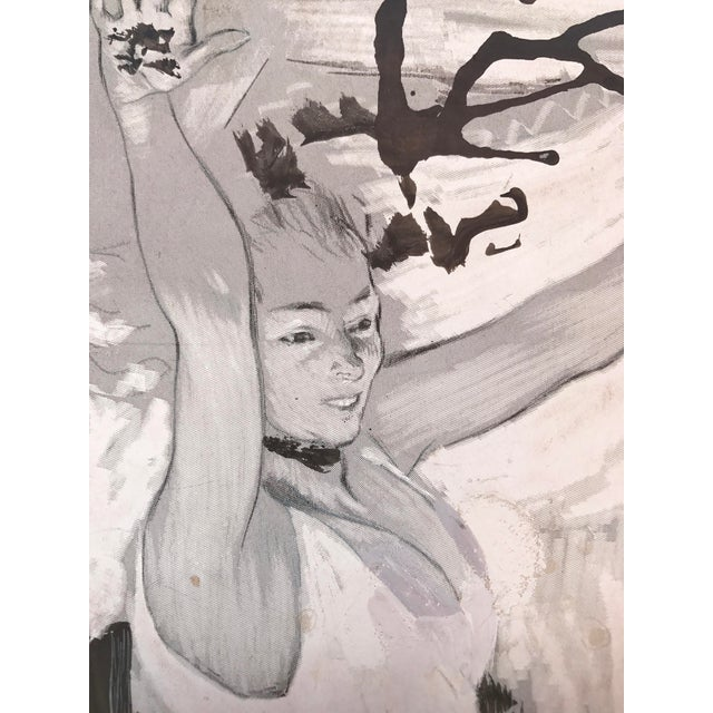 Early 20th Century Gouache of French Art Nouveau Dancer by Louis Legrand For Sale - Image 5 of 7